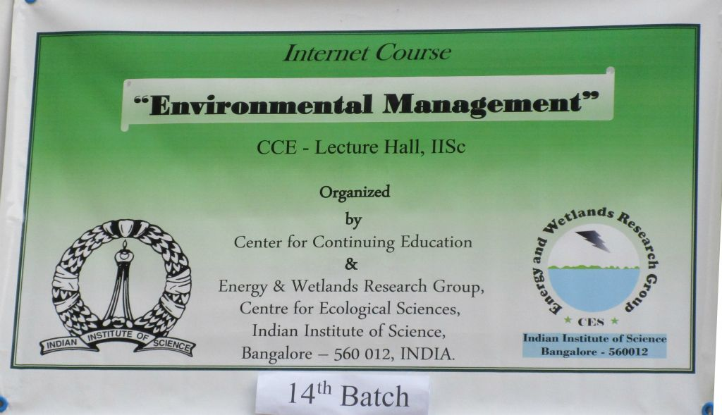 Distance Education Courses Environmental Management Course 2016